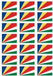 Seychelles Flag Stickers - 21 per sheet